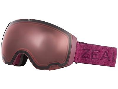 Zeal Optics Portal (Plum w/ Automatic+ RB + Persimmon Sky Blue Lens) Snow Goggles