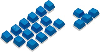 VULTURE Rubber Keycaps Cherry MX Double Shot Backlit 18 Keycap Set Compatible for Gaming Mechanical Keyboard OEM Profile Doubleshot Rubberized Diamond Textured Tactile Grip with Key Puller (Blue)