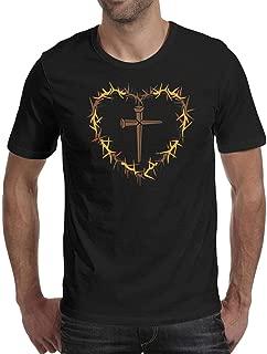 Men's Good Friday Heart Round Neck T-Shirts,Summer Casual Short Sleeve Tee