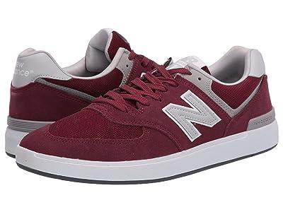 New Balance Numeric AM574 (Burgundy/Grey) Skate Shoes