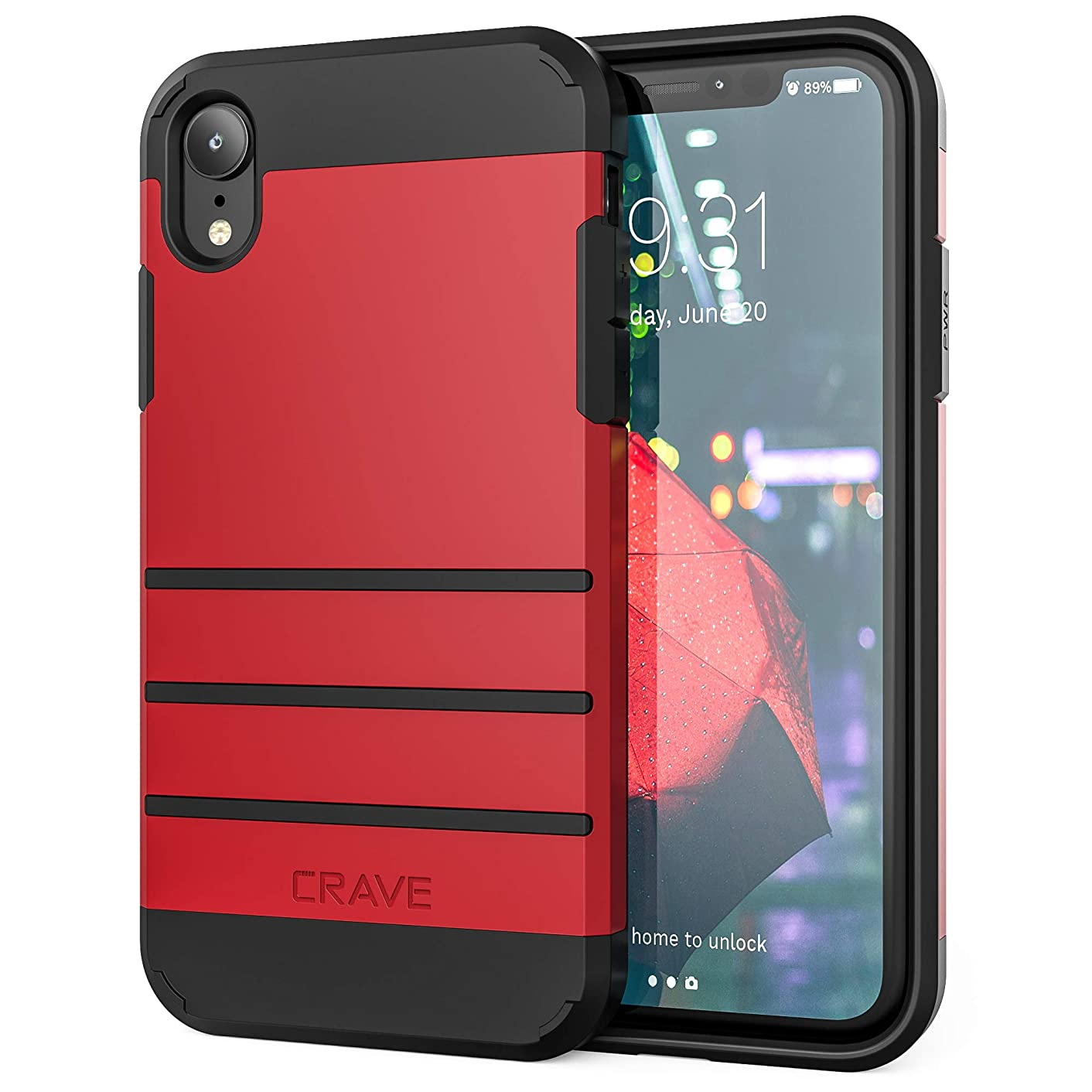 iPhone XR Case, Crave Strong Guard Protection Series Case for Apple iPhone XR (6.1 inch) - Red