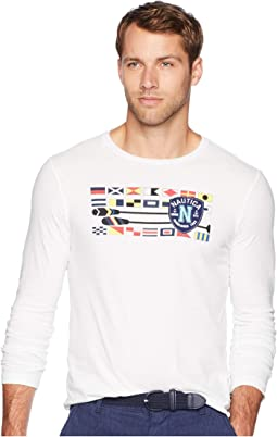Long Sleeve Flag Oars Crew T-Shirt