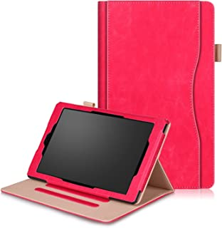 FUNUT HD 10 Case PU Leather Slim Case Smart Auto Wake Sleep Cover with Stand Pocket Protective Case for All-New Amazon Kin...