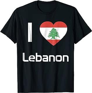 Best i love lebanon t shirt Reviews