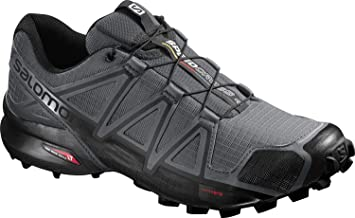 SALOMON Speedcross 4 Trail Running Shoes Cloud/Black/Pearl Grey Mens Sz 10.5
