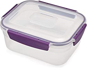 Joseph Joseph Nest Lock Plastic Food Storage Container with Lockable Airtight Leakproof Lid, 63 oz, Purple