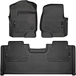 Husky Liners 94071 Fits 2017-20 Ford F-250/F-350 SuperCab Weatherbeater Front & 2nd Seat Floor Mats, Black