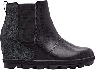 Joan of Arctic Wedge II Chelsea Boot - Girls' Black/Black, 1.0