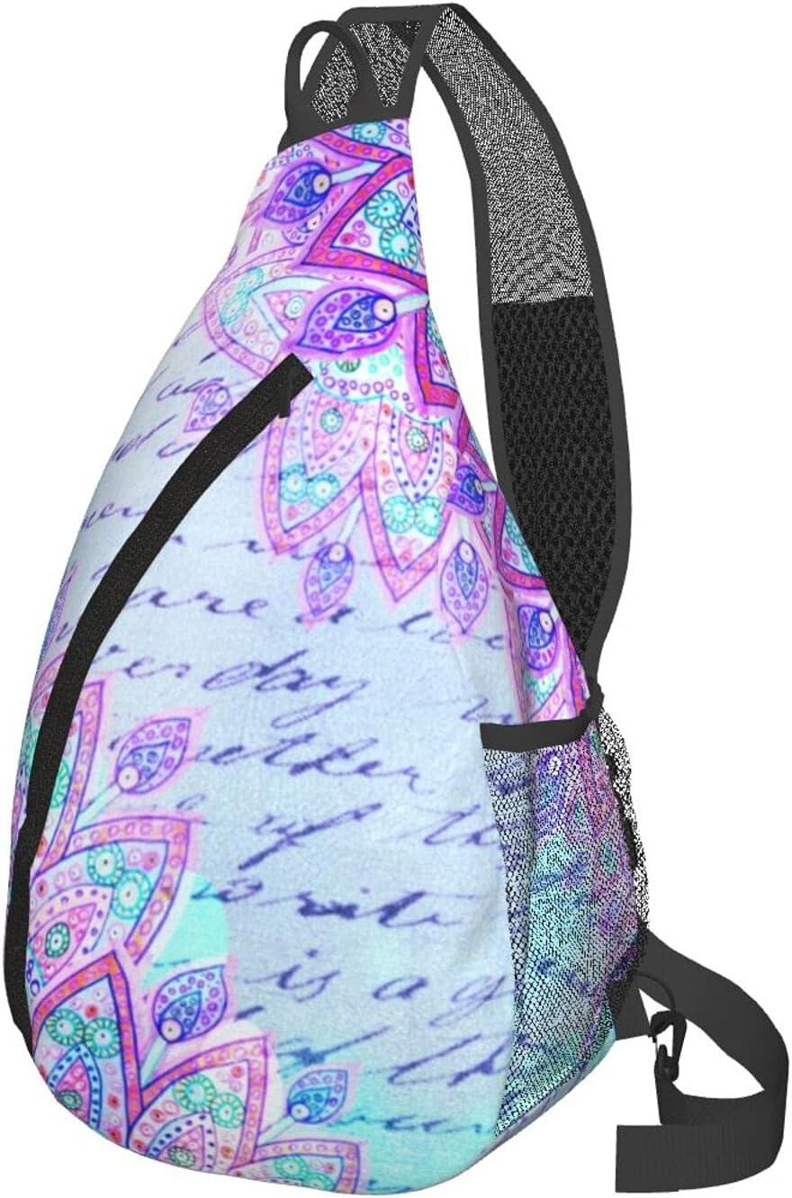 Flower Theme Men'S Women'S Multipurpose Bag Las Vegas Mall In stock Sl Lightweight Chest