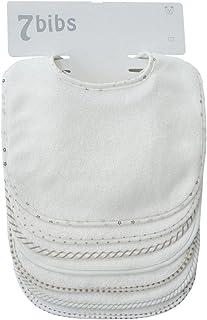 Bavaglini assorbenti a doppio strato, per bebè, in cotone (7 pezzi) (white)