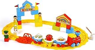 Baoli Classic tren de juguete Starter Set–pistas y accesorios, tren Cars para niños & Older Kids Tren Sets