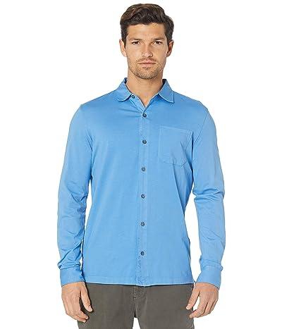 Mod-o-doc Santa Monica Long Sleeve Button Front Shirt (Blue Clarity) Men