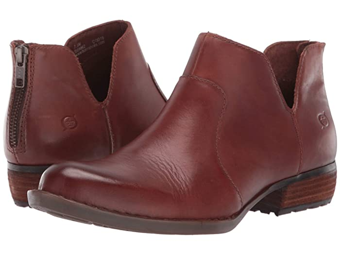 Born  Kerri (Brown Full Grain Leather) Womens Dress Zip Boots