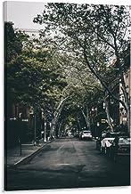 City Street Day Slaapkamer Mode Canvas Prints voor Moderne Woondecoratie Klaar om te hangen Frame-style1 16x24inch (40x60cm)