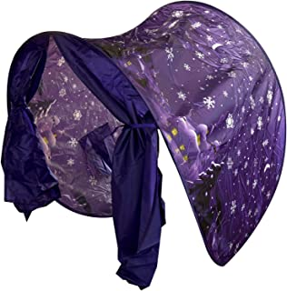 Standard ASAB Pop Up Magical Dream Screen Bed Canopy Childs Bedroom Kids Dome Tunnel Tent with Portable Carry Case-Snowy