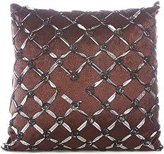 Taraf Dark Brown 45 X 45 Cm Cross Rose Cushion