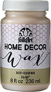 FolkArt 34170 Home Decor Chalk Furniture & Craft Paint in Assorted Colors, 8 ounce, Clear Wax