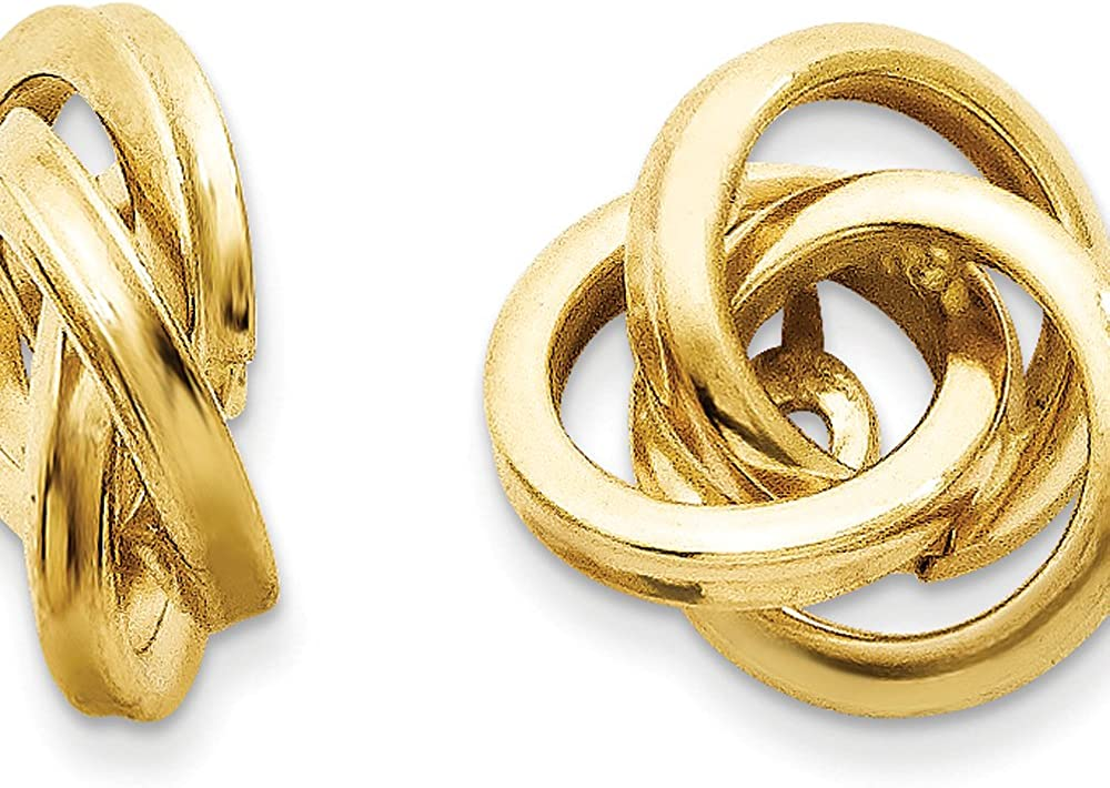 Finejewelers 14k Yellow Gold Polished Love Knot Earring Jackets for 3mm Studs