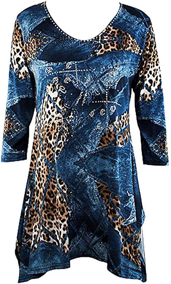Valentina Signa - Max 49% OFF Denim Animal 3 Rhine Sharkbite Tunic 4 All stores are sold Sleeve