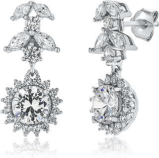 Montage Jewelry Women's Antique Style Cubic Zirconia & Sterling Silver Earrings