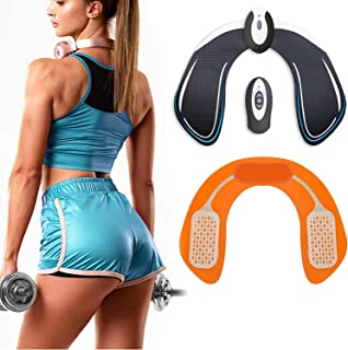 UMATE ABS Stimulator Hips Trainer, Electronic Backside Muscle Toner, Smart Wearable Buttock Toner Trainer for Men Women Gel