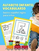 Alfabeto infantil vocabulario basico español ingles para niños: El abecedario en inglés con imagenes para colorear y escritura es uno de los puntos fundamentales para comenzar a aprender inglés.