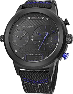 WEIDE WH6405 Quartz Digital Electronic Watch Two Sub-Dials Dual Time Date Display 3ATM Waterproof Timer Business Men Fashi...
