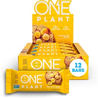 ONE Plant Protein Bars, Banana Nut Bread, Vegan, Gluten Free Protein Bars with 12g Protein & Only 1g Sugar, Guilt-Free Sna...
