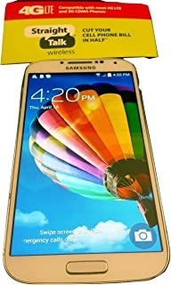 Samsung Galaxy S4 White - for Straight Talk with Fast 4g LTE Data Verizon Towers