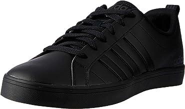 Adidas VS Pace Faux Leather Side-Stripe Lace-up Athletic Shoes for Men - Core Black, 46