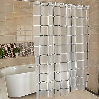 LANKE Shower Curtain Bathroom Waterproof Anti-Mold Modern Minimalist Fashion Curtain(180 * 200CM) (Black temptation)