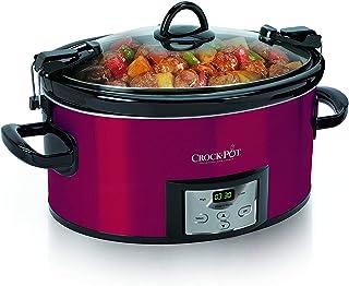 [(クロック·ポット)Crock-pot][ SCCPVL610-R-A 6-Quart Programmable Cook & Carry Oval Slow Cooker with Digital Timer](並行輸入品) (Red)