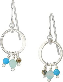 Chan Luu - Dainty Drop Hoop Earrings with Dangling Semi Precious Stones
