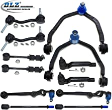 DLZ 12 Pcs Suspension Kit-2 Upper 2 Lower Front Control Arm Ball Joint 2 Outer 2 Inner Tie Rod End 2 Front 2 Rear Sway Bar Compatible with Ford Thunderbird Mercury Cougar 1993 1994 1995 1996 1997