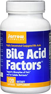 Jarrow Formulas Bile Acid Factors, Supports Absorption of Fats, 120 Capsules