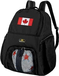 canada flag soccer ball
