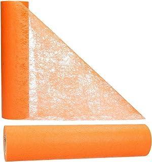 AmaCasa Chemin de Table Non tissé Courroie de Table Ruban de Table Non tissé Mariage Communion 30cm/25m (Orange, 30cm)