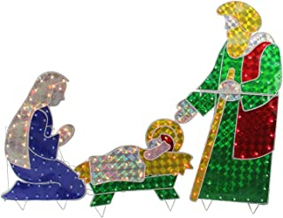 3 piece pre lit nativity set