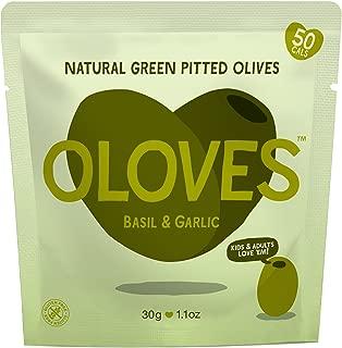 Basil & Garlic Pitted Green Olives Bulk Box