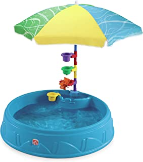 Step2 Play & Shade Pool for Toddlers   Plastic Kids Outdoor Pool, Multicolor