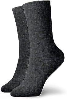 ミッドナイトリネンファッショナブルなカラフルなファンキー柄コットンドレスソックス11.8インチ