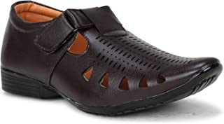 Emosis Mens Loafer Shoe - Synthetic Leather Slip-on Sandal - for Outdoor Formal Office Party Casual Ethnic Daily Use - Available in Tan Brown Black Blue White Color - 328M