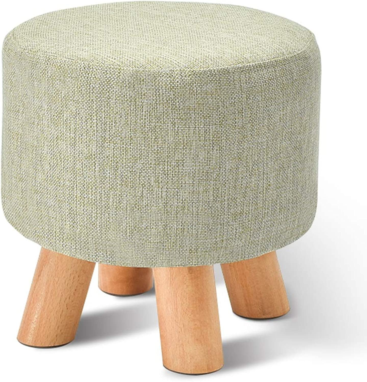 Footstool Solid Wood Home Kitchen Bedroom Living Room Mobile Anti-Slip Stool (color   C, Size   29  27cm)