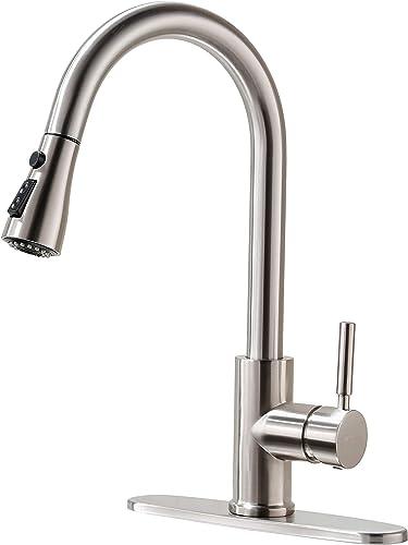 Kitchen Faucet, Kitchen Sink Faucet, Sink Faucet, Pull-Down Kitchen Faucets, Bar Kitchen Faucet, Brushed Nickel, Stai...