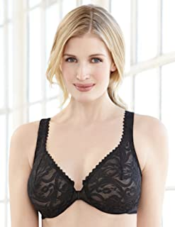 Glamorise Women's Full Figure Wonderwire Front Close Stretch Lace Bra #9245 - coolthings.us