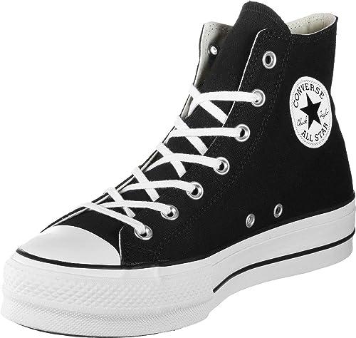 Converse Chuck Taylor all Star Lift - Hi - Bianco/Nero/Bianco Canvas