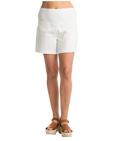 Everly Grey Kathleen Maternity Shorts (White) Women