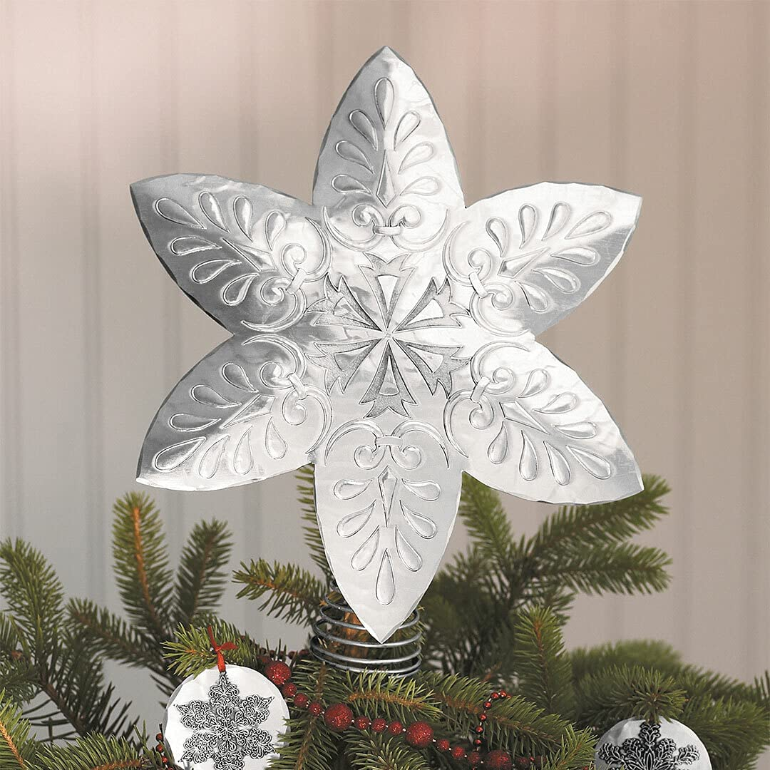 Wendell August Forge Snowflake Tree Topper Genuine Free Popular product Shipping