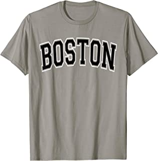 Boston Varsity Style Black Text T-Shirt