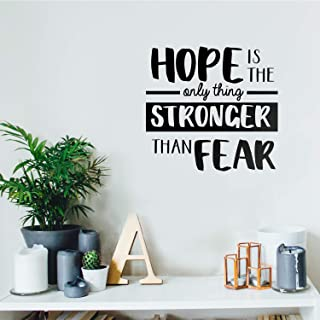 Vinyl Wall Art Decal - Hope is The Only Thing - 17